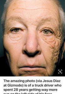 單邊沒防曬28年會發生什麼事?這位大叔用自己的臉教你UVA與UVB造成的問題-防曬全攻略1
